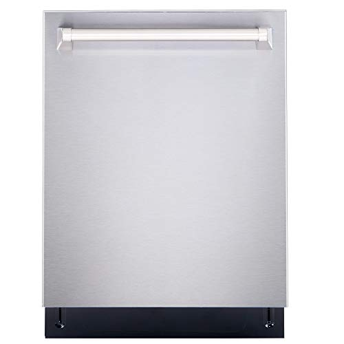 Cosmo DIS6502 Top Control Built-In Tall Tub Dishwasher Fingerprint Resistant, 24 inch, Stainless Steel