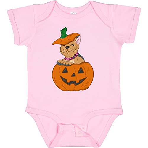 inktastic Halloween French Bulldog in Infant Creeper 12 Months Pink 36f53