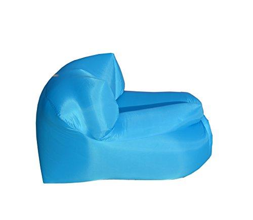 Poltrona Gonfiabile ad Aria Smart New Air Chair per Spiaggia Piscina Campeggio Prato Chaise Longue Azzurro