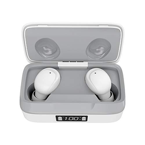 JHMAOYI Auriculares Bluetooth, Auriculares Bluetooth con Pantalla Digital, Auriculares Binaurales TáCtiles, Auriculares Bluetooth InaláMbricos con Led