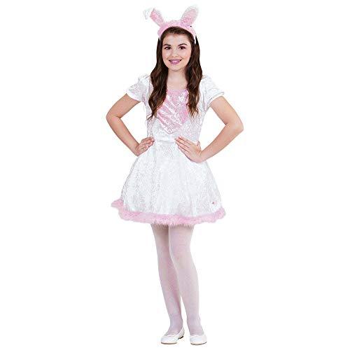 Widmann 69026 - Kinderkostüm Häschen, Kleid mit Schwanz und Ohren, Kaninchen, Hase, Fasching, Karneval, Mottoparty