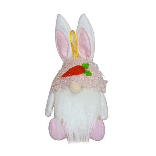 XINGYUE Conejo de Pascua Gnomo Galletas y Dulces Contenedor de Almacenamiento Tarro Conejo Tomte Sueco Muñeca Adornos Colgando Árbol de Navidad Chimenea Fiesta Decoración