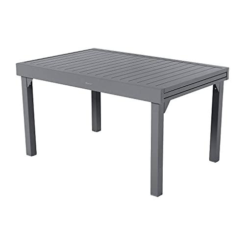 Tavolo da giardino allungabile 135-270x90x75 cm grigio quarzo Grigio