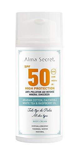Alma Secret Crema Corporal con alta protección Solar SPF 50-100 ml