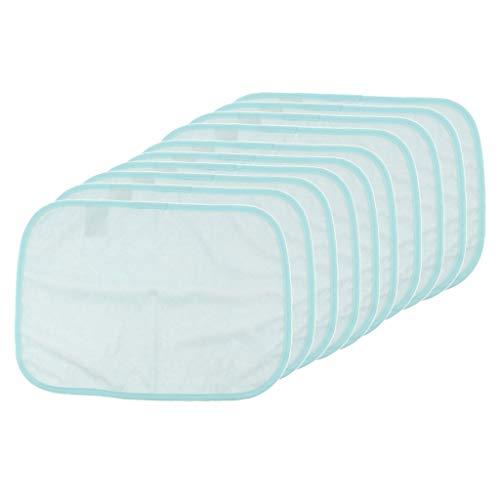 freneci Lot 10pcs Premium Quality Bed Pads Reusable Underpad Mattress Protector Blue