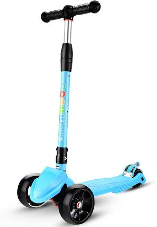 Kinderscooter Kinderroller,Verstellbare Hhe und Kick Roller Tret-Roller mit PU blinkenden Rdern für Kinder 3-10 Jahre alt
