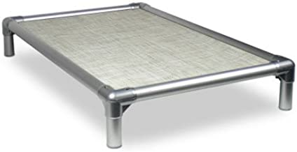 Kuranda Dog Bed - Chewproof - All-Aluminum (Silver) - Indoor/Outdoor - Elevated - Easy to Clean - Water Proof - Breathability - Vinyl Weave Fabric