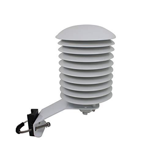 Otomatico Garita estacion meteorologica PVC garita Temperatura para Centro meteorologico Exterior Protectora para transmisor al Aire Libre