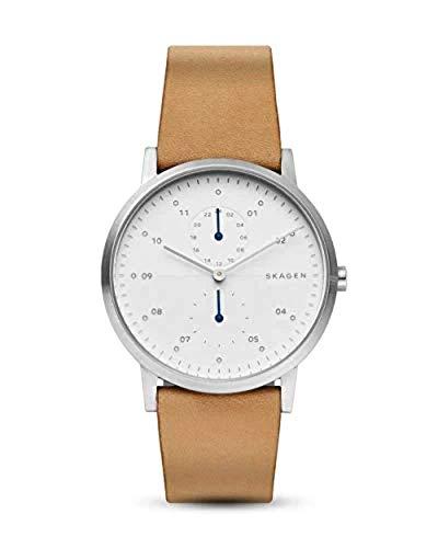 Skagen Reloj Analógico para Hombre de Cuarzo con Correa en Cuero SKW6498