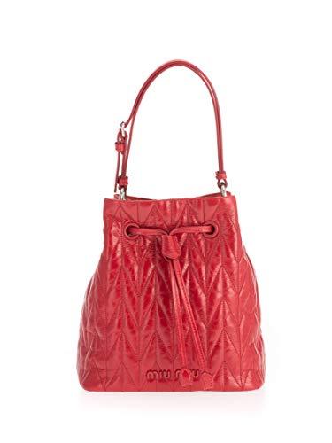 miu miu Luxury Fashion Donna 5BE0432D6CF0011 Rosso Pelle Borsa A Mano | Primavera-estate 20