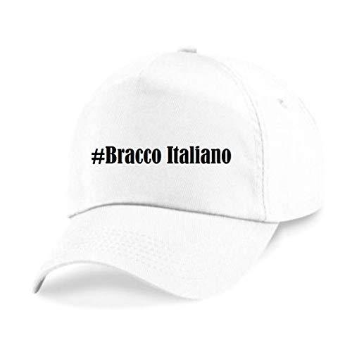 Reifen-Markt Base Cap Hashtag #Bracco Italiano Größe Uni Farbe Weiss Druck Schwarz