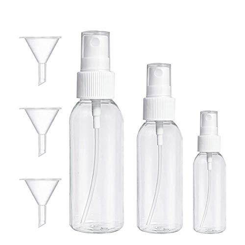 ChenKEE - Botellas de plástico vacías, 30 unidades, botellas de plástico con embudo para viajes, fiestas, herramientas de maquillaje portátil