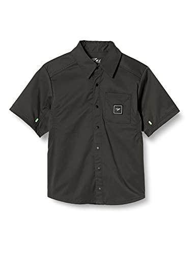 [syunsoku(シュンソク)] ボタンシャツ 半袖 スナップシャツ 115~155cm キッズ 男の子 女の子 SSA 3060 チャコール 2(125~135)
