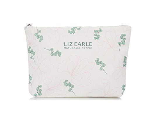 Liz Earle Kosmetiktasche, limitierte Auflage, bedruckt, Rosa und Salbeigrün