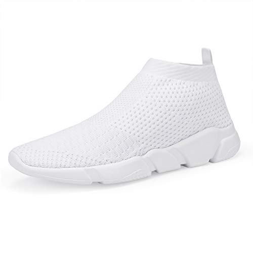 WXQ Men's Running Lightweight Breathable Casual Sports Shoes Fashion Sneakers Walking Shoes White 42