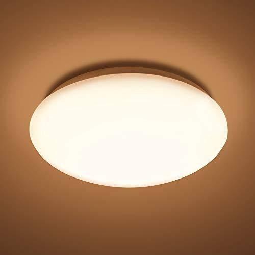 McLED 12W LED Deckenleuchte 2700K | Deckenlampe warmweiss für Wohnzimmer Schlafzimmer Bad Flur Kinderzimmer | Lampe Schutzart IP44 Wasserfest Modern 30.000h Lebensdauer Energieklasse A+ Ø28cm