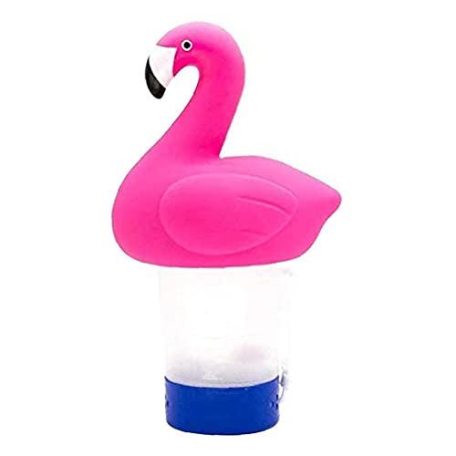 Chloor Tablet Houder, Drijvende Pool Chloor Dispenser Automatische Tablet Chemische Houder Flamingo Decoratie