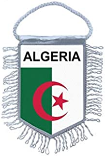 BLASON ECUSSON FOOTBALL FANION TRIANGLE ALGERIE 18 X 25 CM