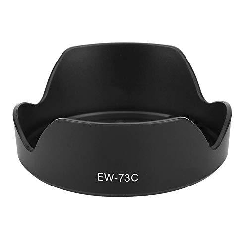 Mugast EW-73C camera zonneklep, draagbare kunststof zonneklep, professionele vervanging zonneklep accessoires voor Canon EF-S 10-18 mm f4.5-5.6 is STM-lens.