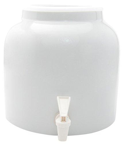 Bluewave Lifestyle Solid White Bluewave Design Beverage Dispenser Crock