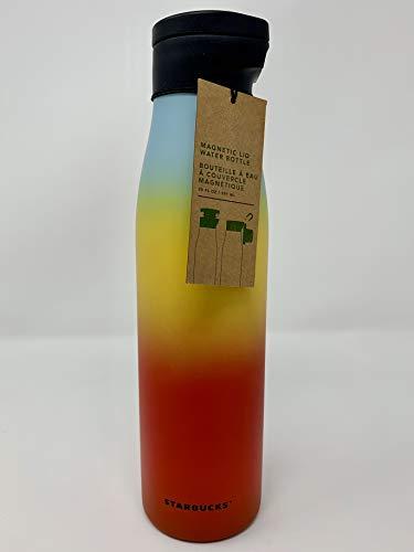 Starbucks 2019 Edición limitada Spring Collection Rainbow tapa magnética doble pared botella de agua de acero inoxidable, 20 fl oz