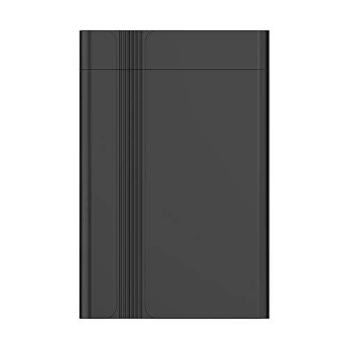 Fanuse USB3.0 Hard Disk Box 2,5 Zoll Serieller Anschluss SATA SSD Mechanical Festplatten UnterstüTzung 6 TB Mobile Externe Festplatte (Schwarz)