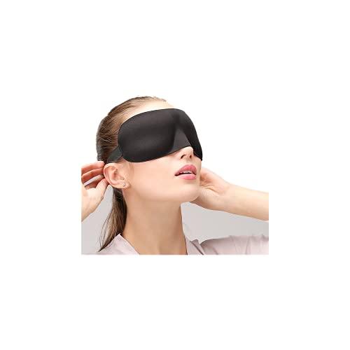 Antifaz para dormir antifaz con tapones para los oídos 100% de resistencia a la luz, contorno 3D unisex ajustable