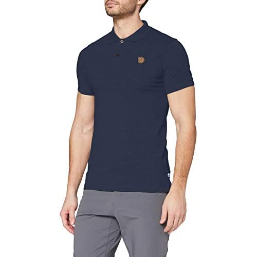 Fjällräven oevik Polo Shirt poloshirts, Uomo, Övik Polo Shirt, blu navy, XL