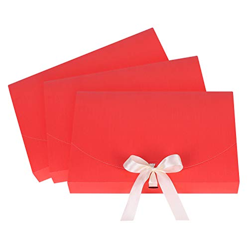 10 bolsas de regalo de bufanda, pañuelo, camisa, caja de regalo con cinta de seda, elegante, bolsa de regalo para Navidad, boda, San Valentín, día de la madre y del padre