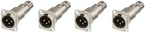 4 Neutrik NA3MDF 3 Pin Mic XLR Male to Female Adapter Feed Pass Thru Converter product image