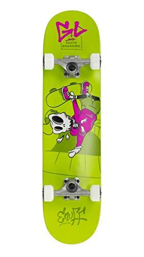 "Enuff Skateboards Skully Complete Mini Skateboard Unisex Erwachsene, Unisex-Erwachsene, ENU2150, Grün (Green), 7.75\"""