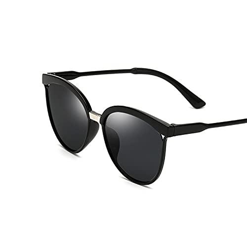 YUZHUKKKPYZ MJ - Gafas de sol para mujer, diseño de ojo de gato, para mujer, color negro