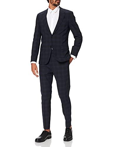 HUGO Anfred/Howard214X_WG Juego de Pantalones de Traje de Negocios, Dark Blue 405, 48 para Hombre