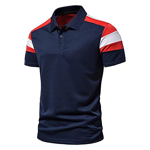 Men's Polo Shirts Short Sleeve Casual Collared Golf T Shirt Fashion Cut Athletic Tops