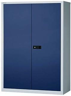 Bisley Armoire à portes battantes UNIVERSAL, h x l x p 1806 x 914 x 400 mm, 3 tablettes, 4 hauteurs de classeurs, gris cla...