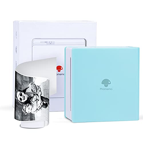 Phomemo M02 Pocket Printer- Mini Bluetooth Wireless Portable Mobile Printer Thermal Printer Compatible with iOS + Android for Learning Assistance, Study Notes, Journal, Fun, Work, Ice Cream Green