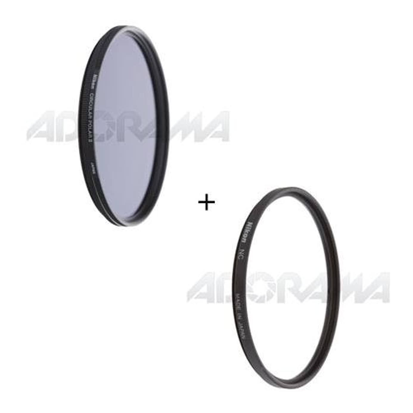 Nikon 77mm Filter Set, 77mm NC Neutral Clear Filter and 77mm Circular Polarizer II Thin Ring Multi-Coated Filter hfx8428659
