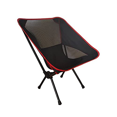 Yansage Outdoor Rocking Chair, Portable Folding Chair and Beach Chair with Carry Bag for Outdoor Picnic Hiking Camp (Black)