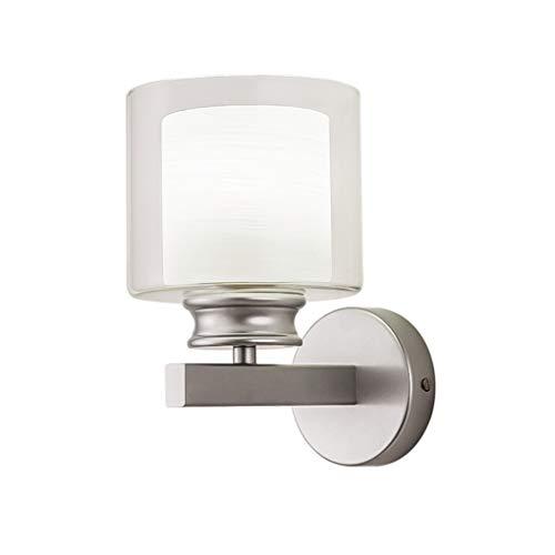 XL Applique Moderne De Mode Applique Murale Applique Lou Dao Restaurant Tête de Lit Chambre En Verre Double Couche Ombre Luminaire (Couleur : Silver)