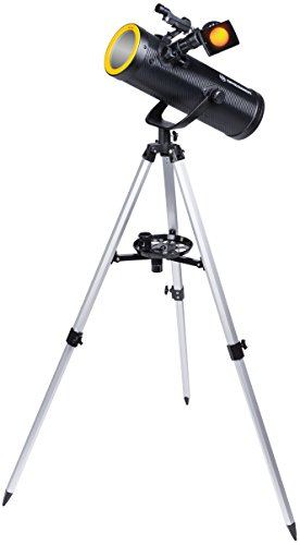 Bresser Teleskop Solarix 114/500 mit Smartphone Kamera Adapter und Sonnenfilter für Beobachtungen der Sonne im Weisslicht, für Himmels- und Erdbeobachtungen