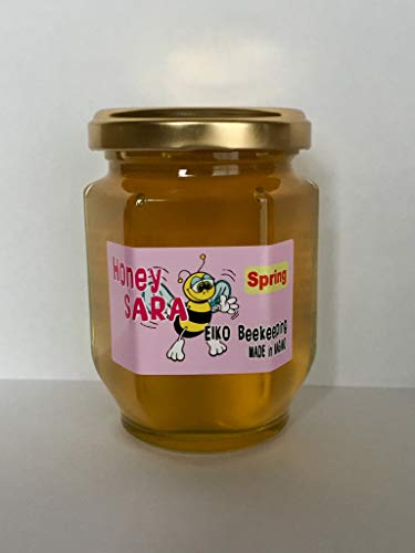 春の百花蜂蜜 180g (桜、杏、りんご 等) 非加熱 非加糖 純粋 国産 はちみつ 長野県産 honey sara miel