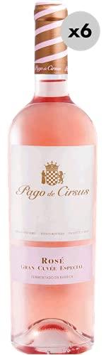 Pago de Cirsus Rosé Gran Cuvée Especial, Vino Rosado, 6 Botellas, 75 cl