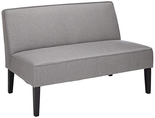 Christopher Knight Home Dejon Modern Fabric Loveseat, Gray / Matte Black