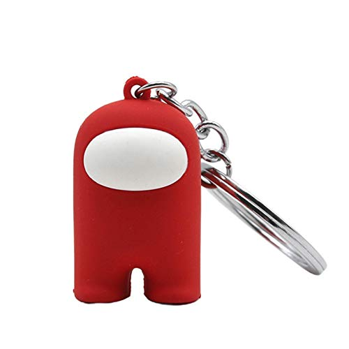YUNCHENG Among Us Keychain Cute Geschenke Among Us handgemachte Spiele Spielzeug Vinyl-Puppen aus Kunststoff Soft-Puppe Anhänger Schlüsselanhänger 6er Set (Size : One Set (6pcs))