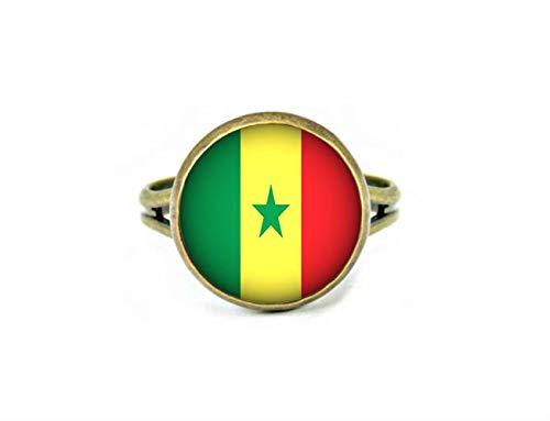 Xubu Nationale Symbool Vlag Sieraden, Senegal Vlag Ringen, Nationale Vlag Ringen