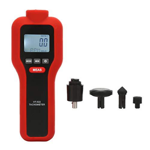 Tacómetro digital, portátil sin contacto 2-99999 y con contacto 2-19999 LCD Tacómetro digital Tacómetro Medidor de velocidad de rotación Probador de calibre de alta precisión