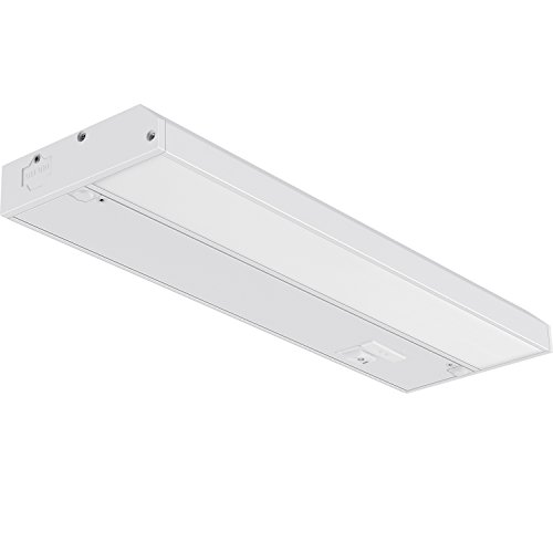 GetInLight 3 Color Levels Dimmable LED Under Cabinet Lighting with ETL Listed, Warm White (2700K), Soft White (3000K), Bright White (4000K), White Finished, 12-inch, IN-0210-1
