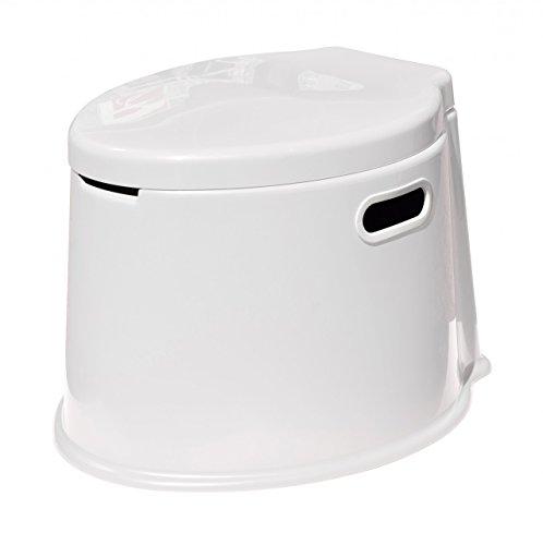 YACHTICON stabile Eimer-Toilette in Vier Farben, Farbe:weiß