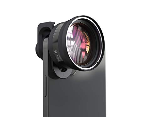 ShiftCam 60mm Telephoto Pro Lens for iPhone and Android Including Universal Mount Attachment for Your Smartphone Camera
