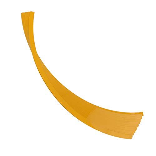 MagiDeal 16 Piezas Coche 14 '' - 16'Rueda Rueda Buje Llanta Borde Protector de Anillo Anillo Tira - Amarillo para Rueda 17-22 pulgadas de diámetro